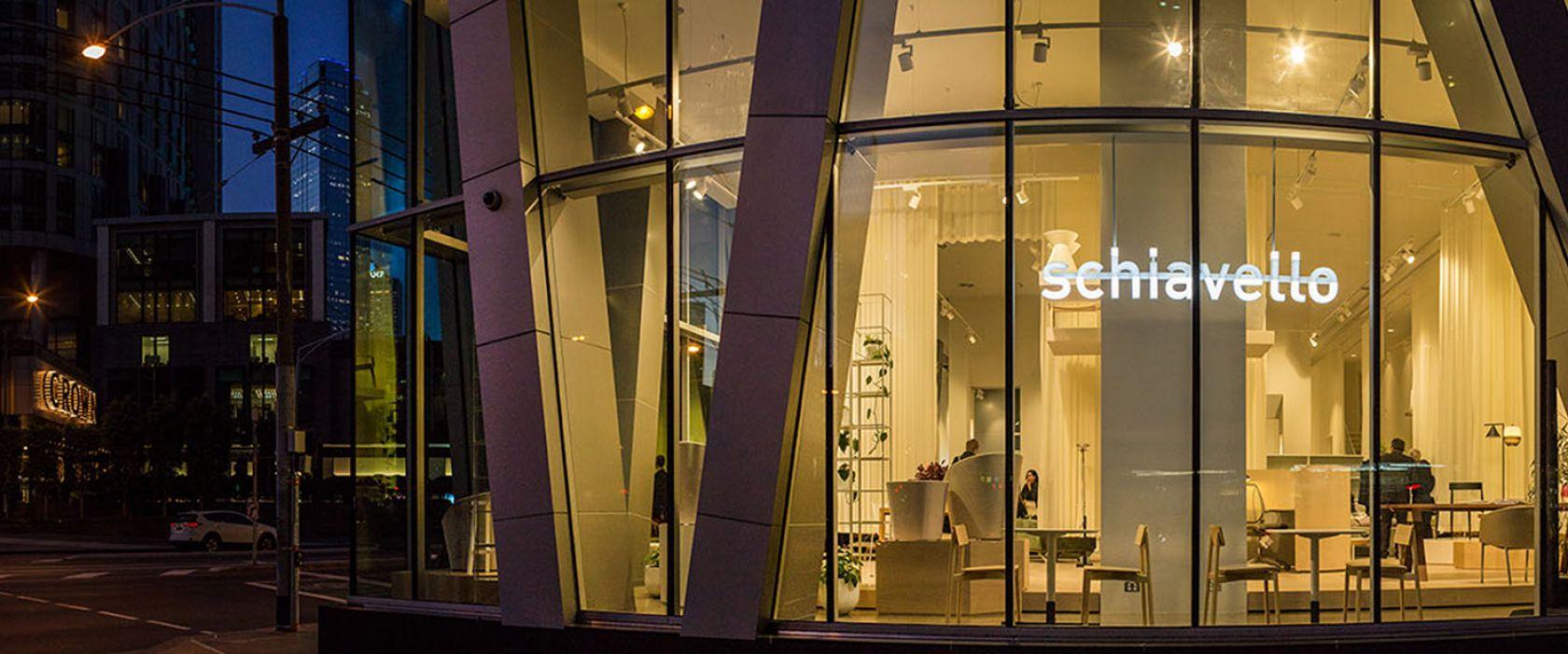 schiavello showroom location sign window