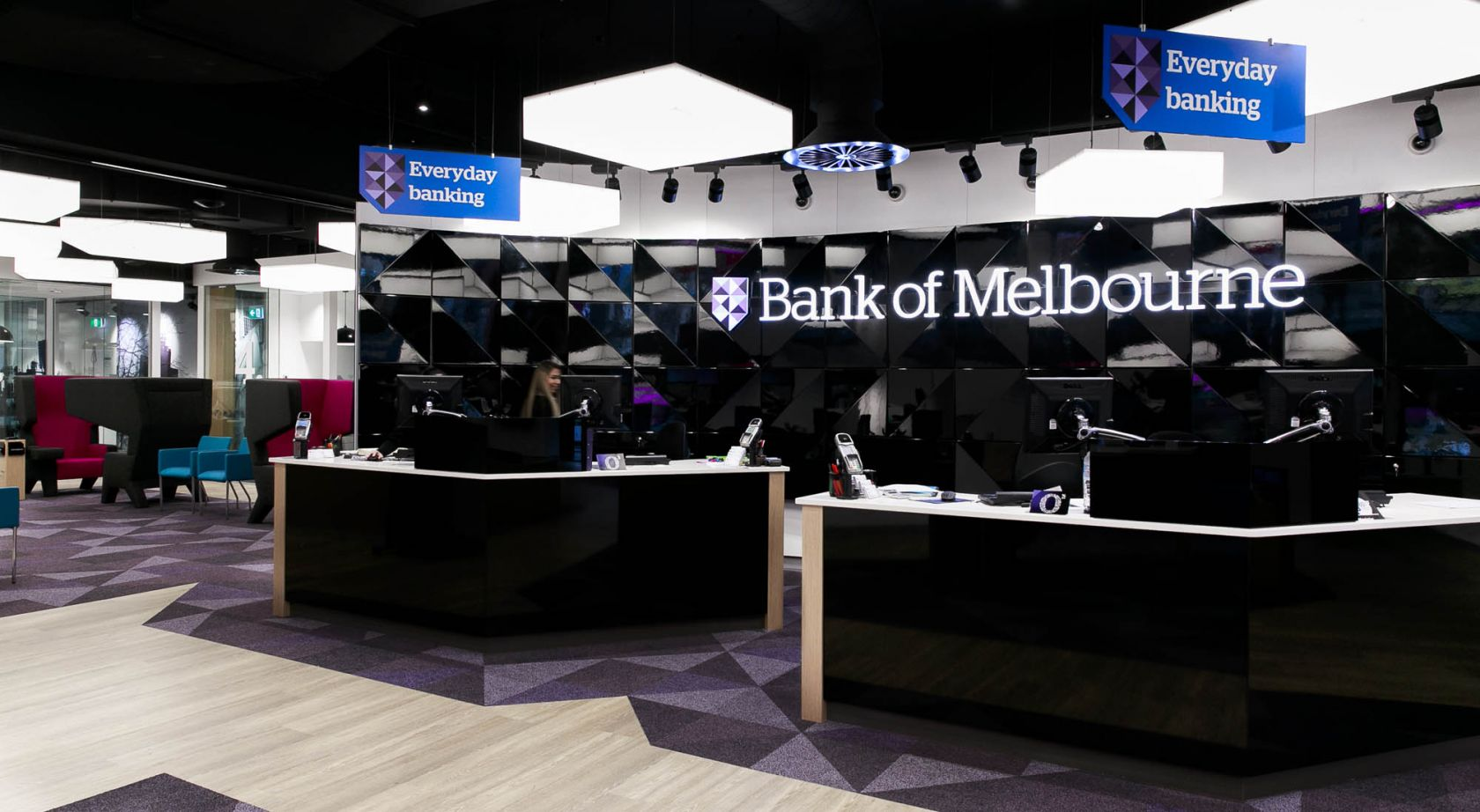 bank of melbourne branch melbourne fitout teller