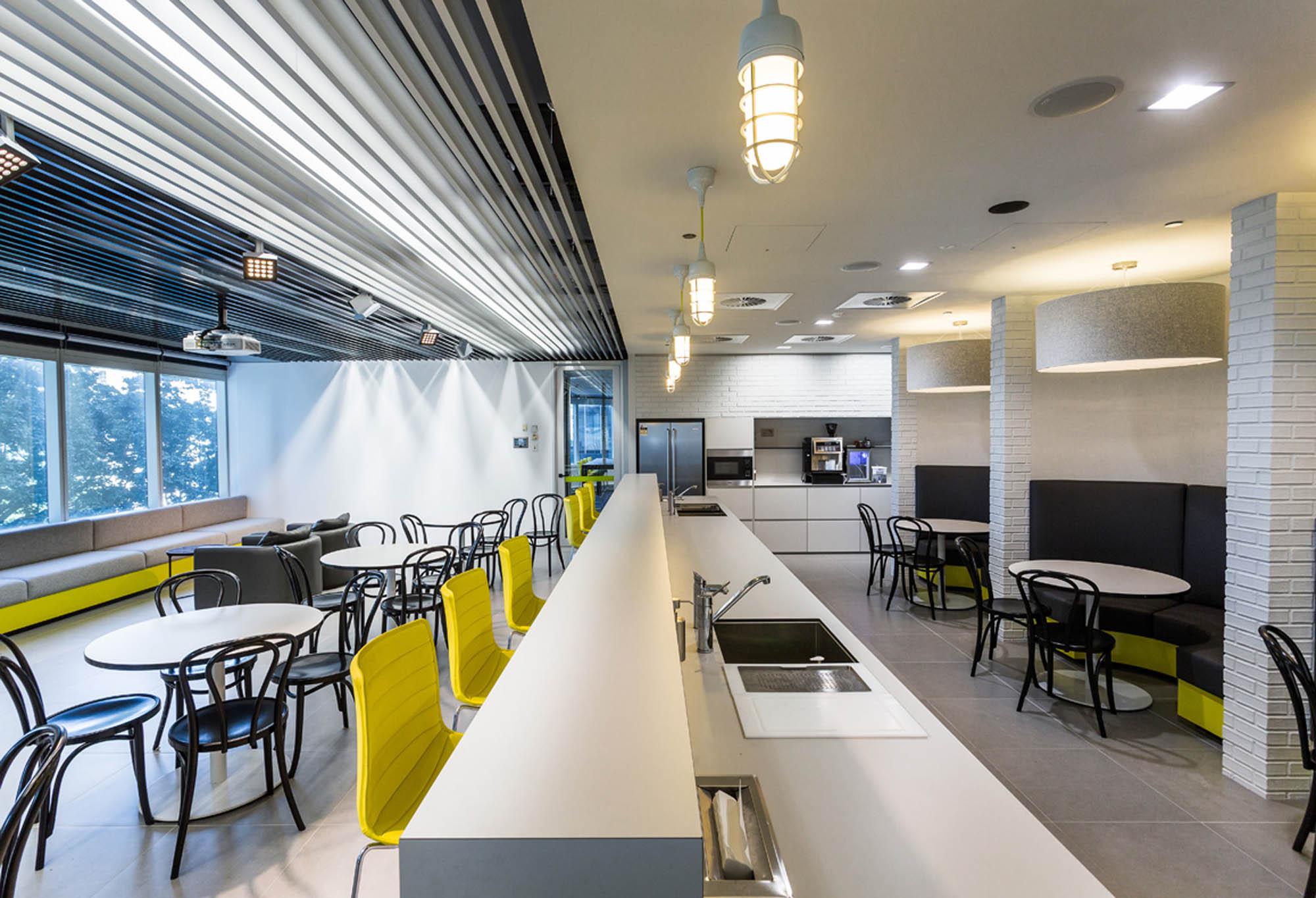 savills brisbane office fitout kitchen