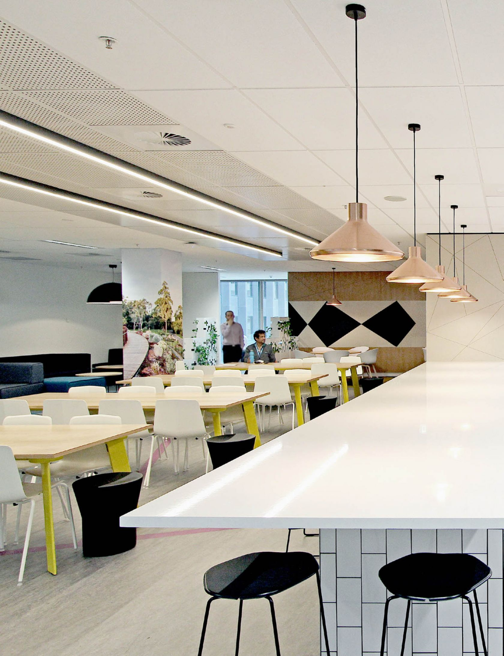 yarra trams melbourne office fitout kitchen bench seating