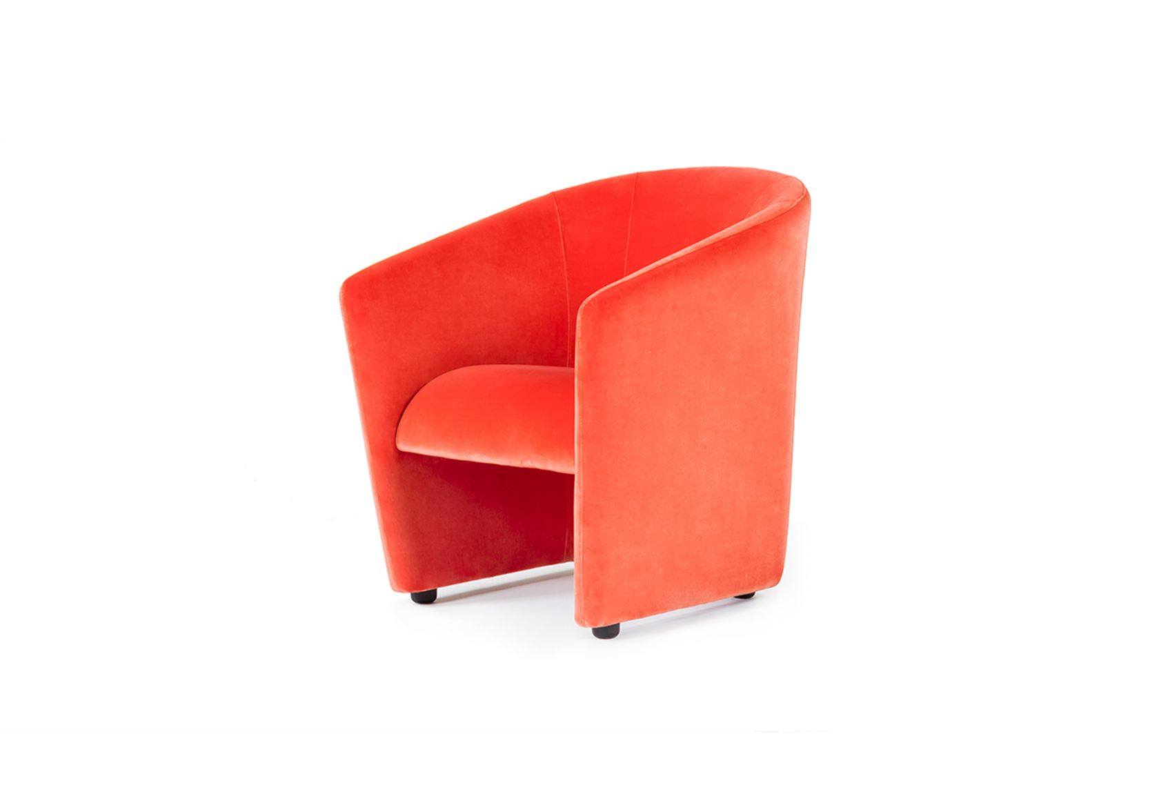 Watsonette Chair orange velvet angle