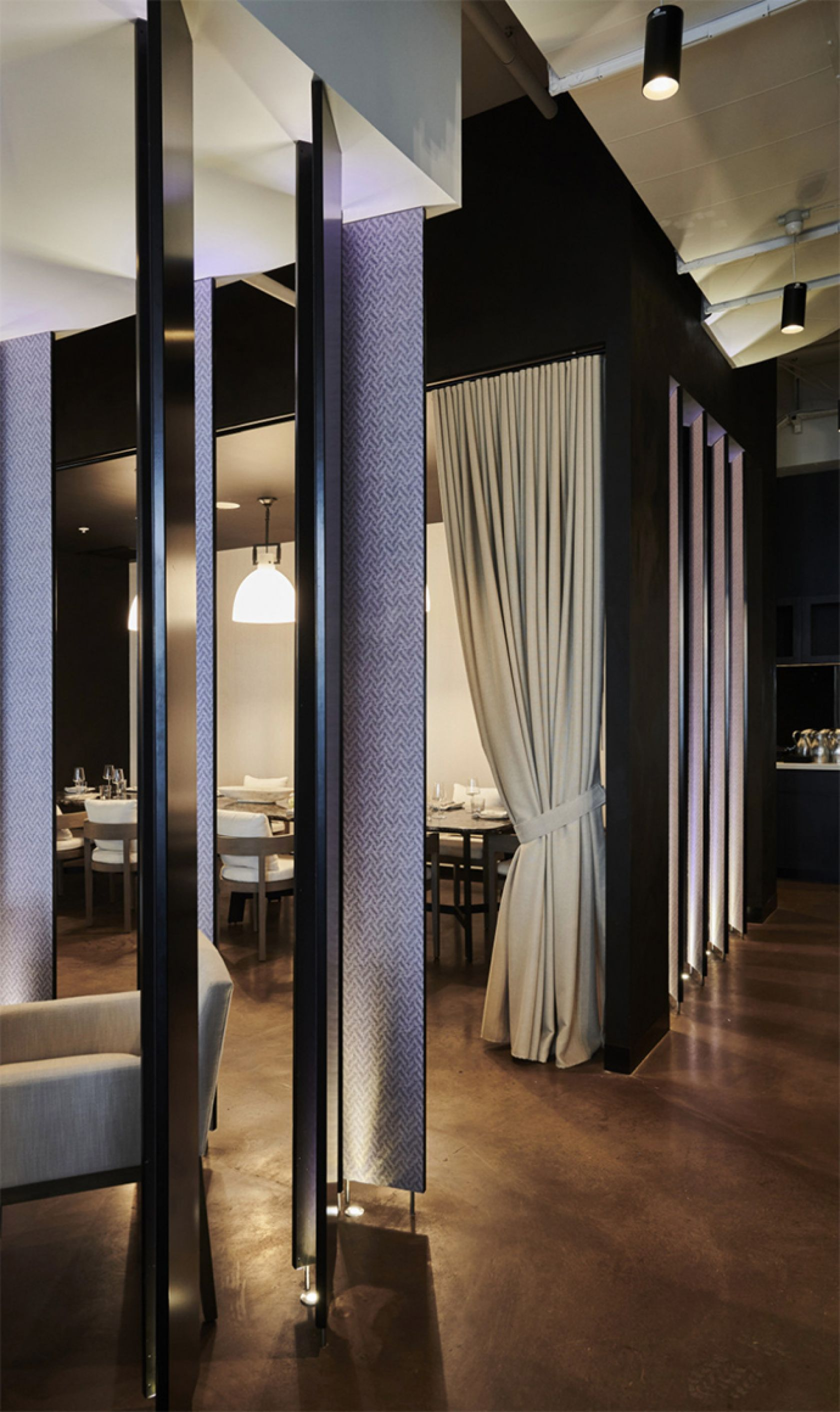 schiavello construction estate coogee restaurant fitout private dining lighting