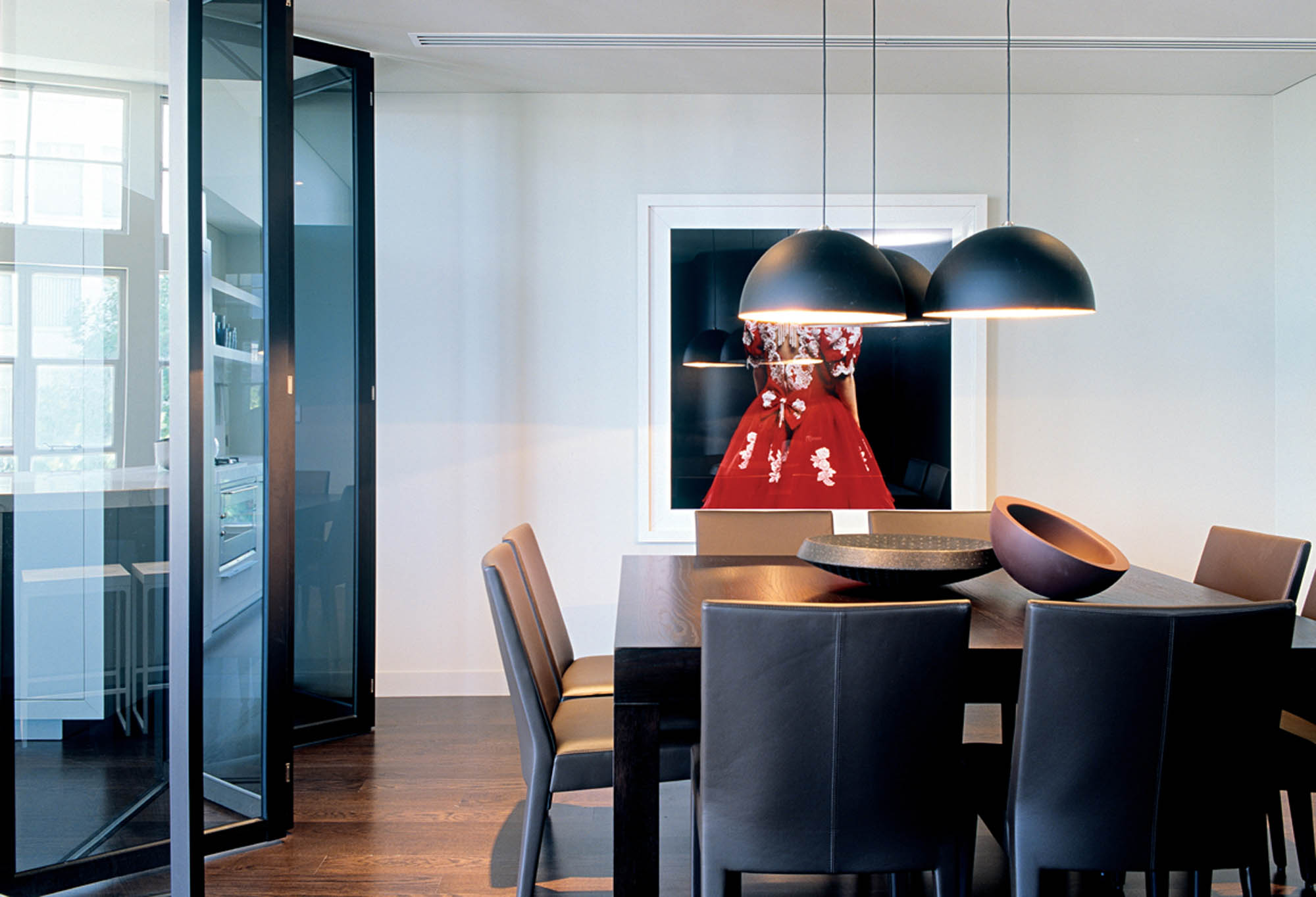 herald living apartments melbourne residential fitout dining table