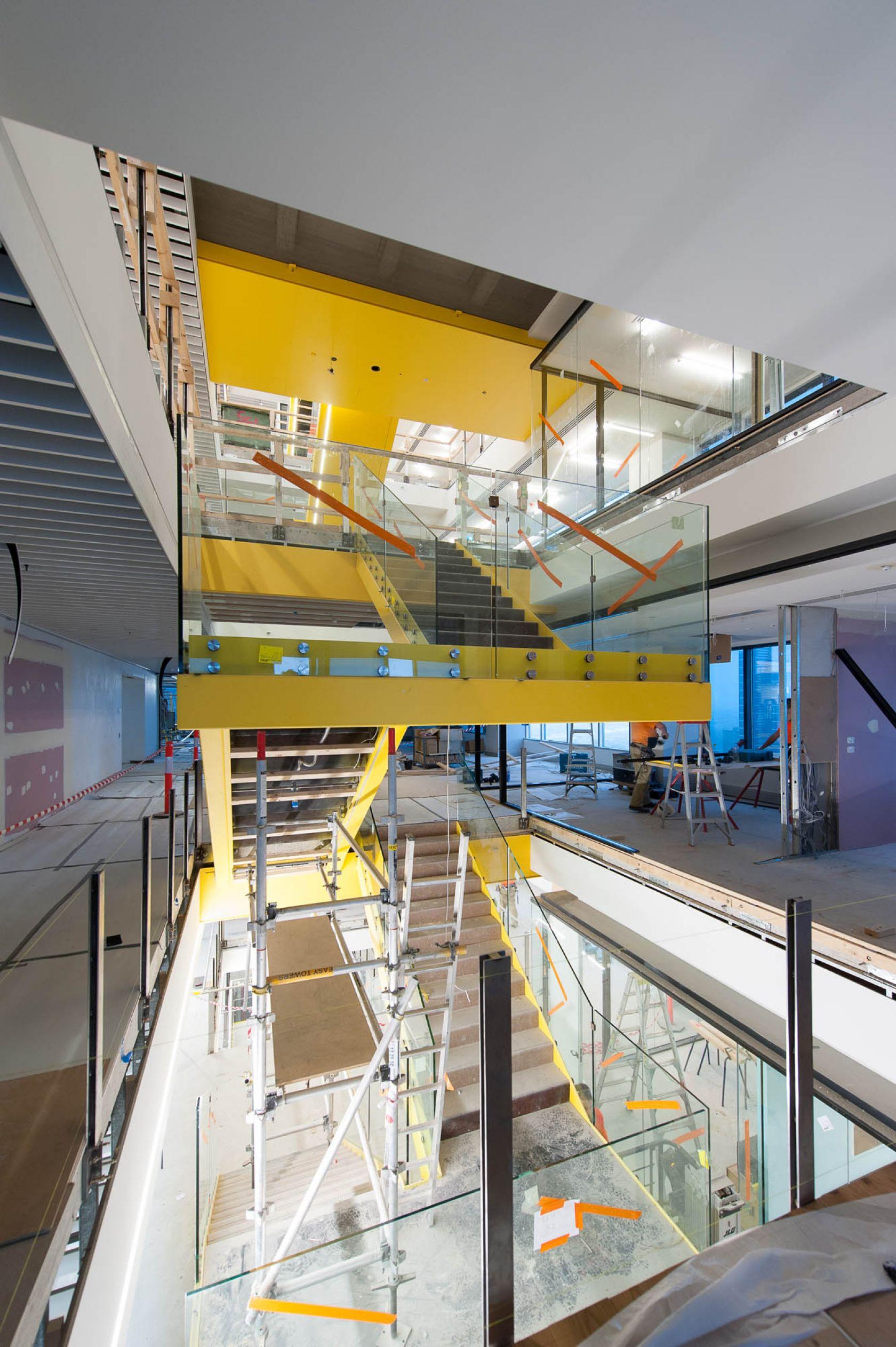 530 collins street melbourne building upgrade make good-stair-penetration