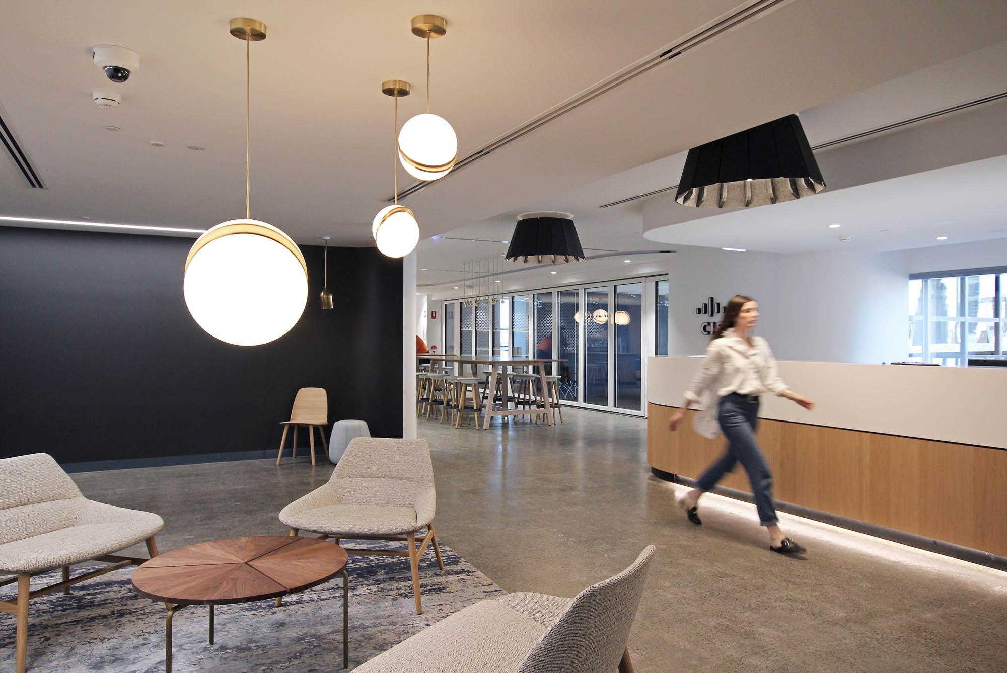 cisco melbourne office fitout reception