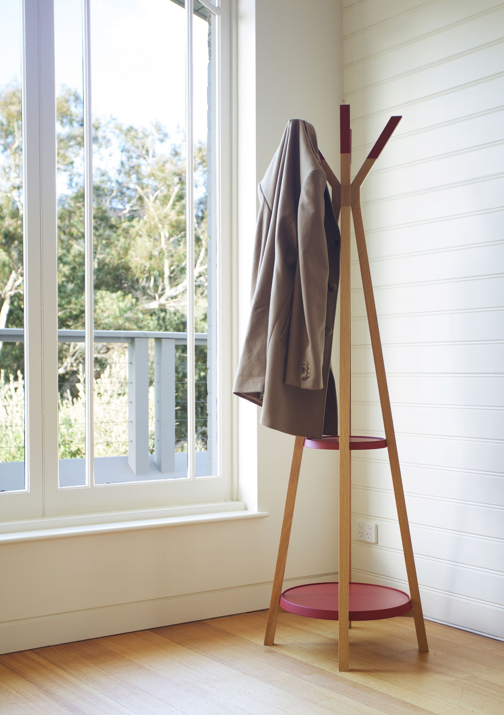 TP with coat hanging P