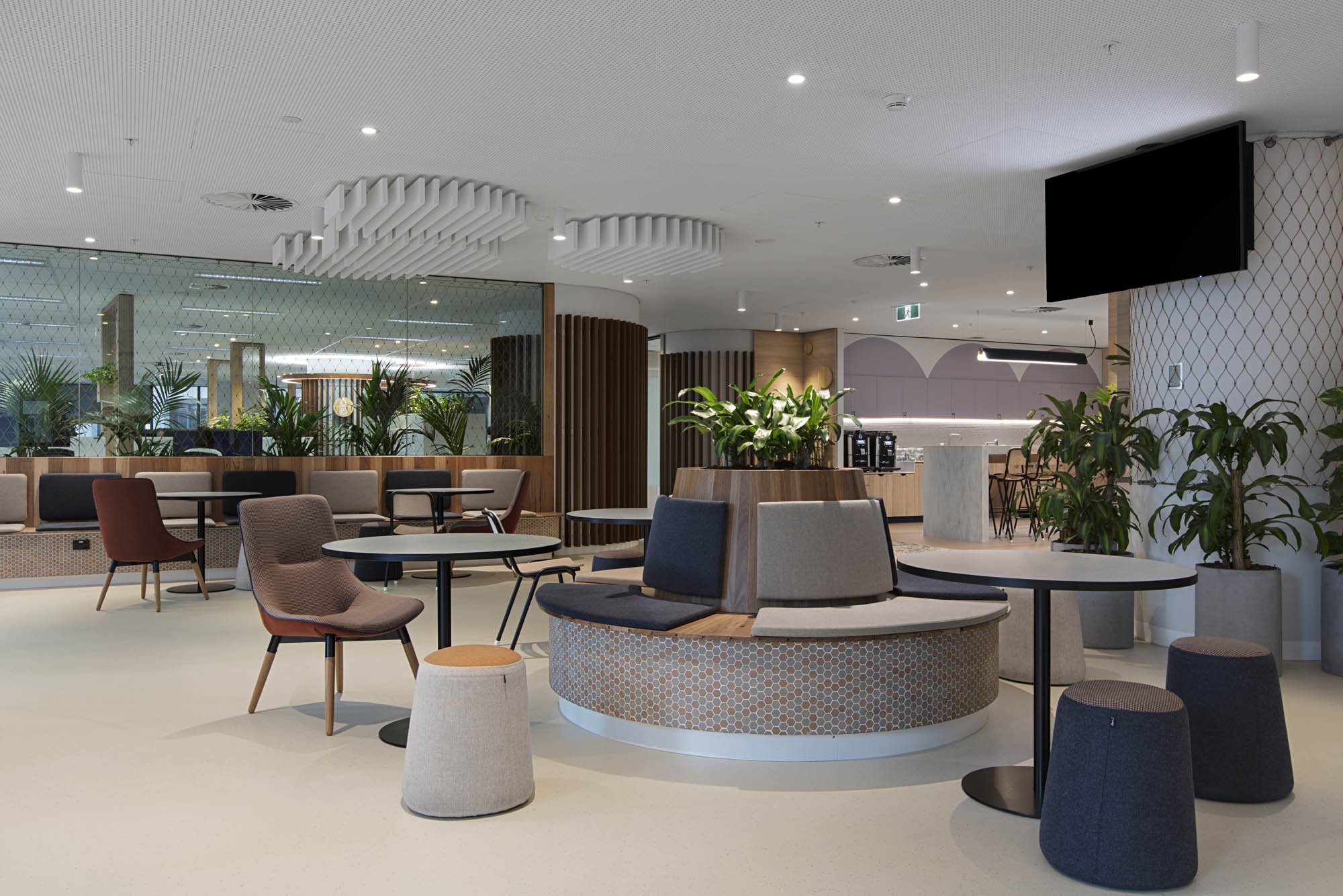 worksafe melbourne office fitout breakout area