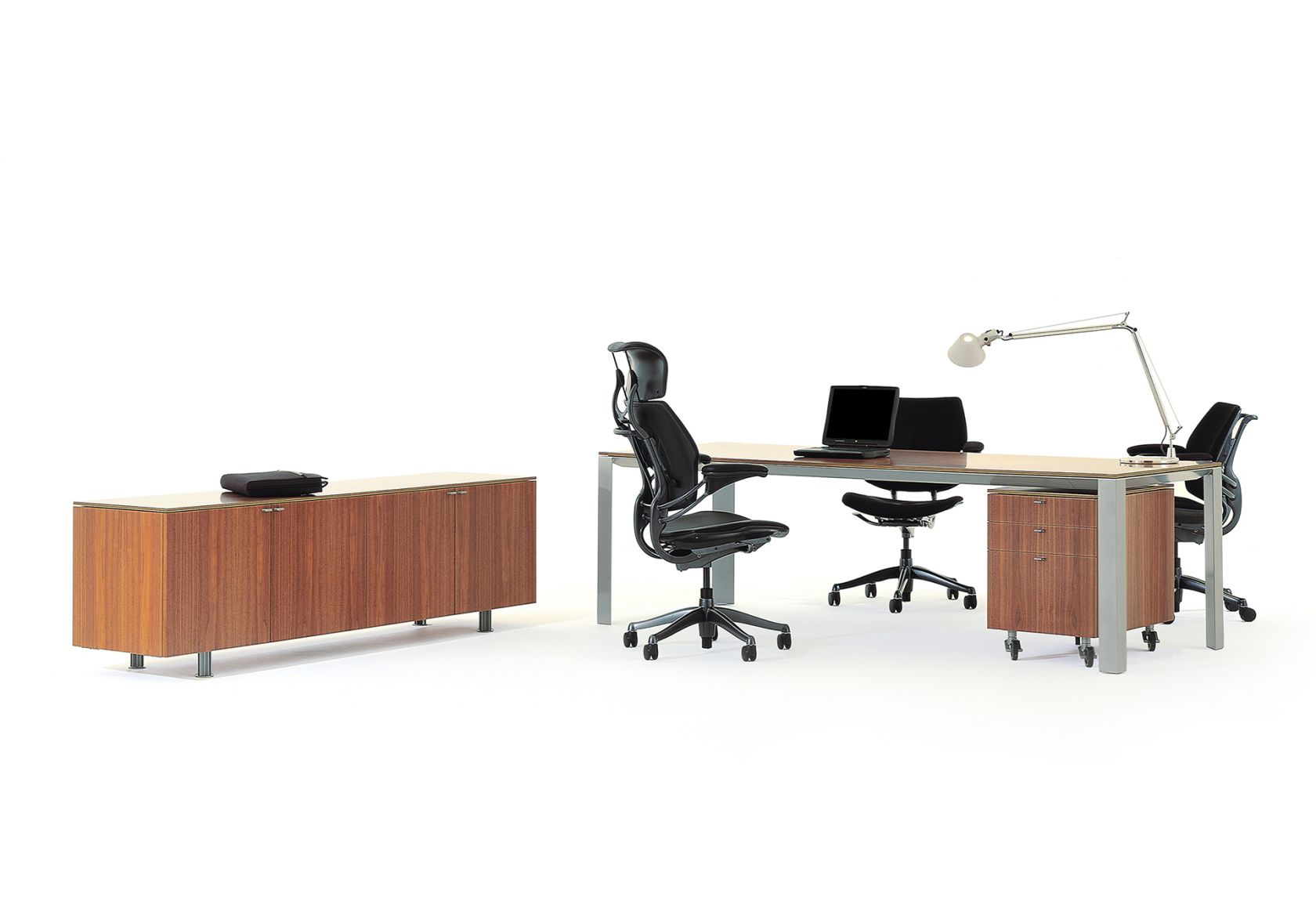 Alto Executive Desk and Alto Storage