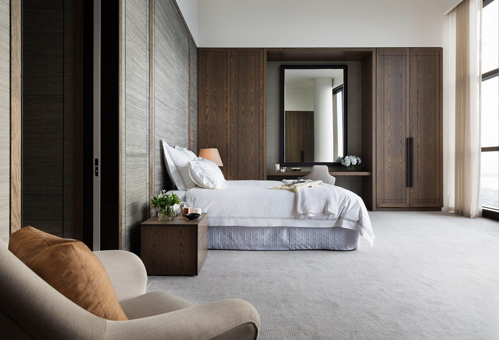 prima tower penthouse melbourne construction master bedroom