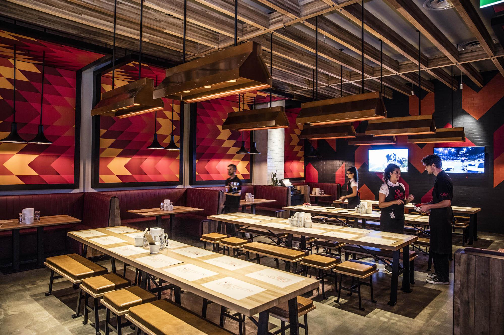 san antone melbourne dining timber ceiling pendant lights