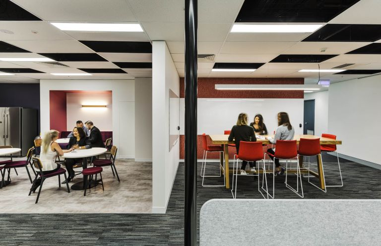 bauer media office fitout collaboration areas