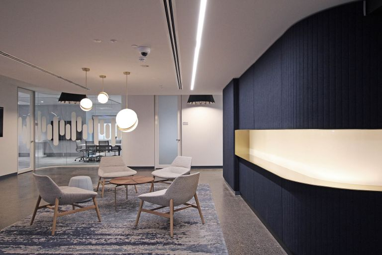 cisco melbourne office fitout waiting area