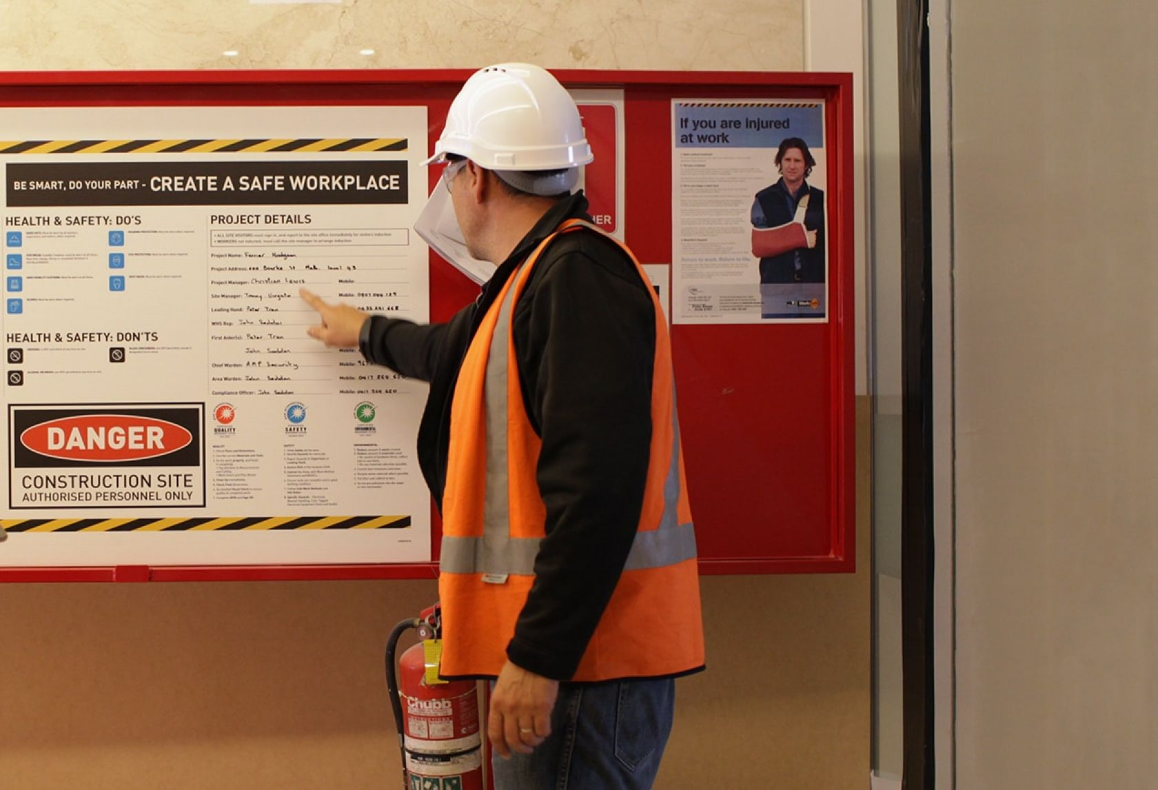 schiavello construction safety board ofsc reaccreditation