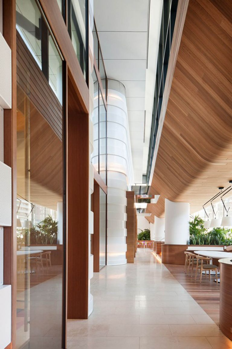 medibank melbourne fitout timber panel