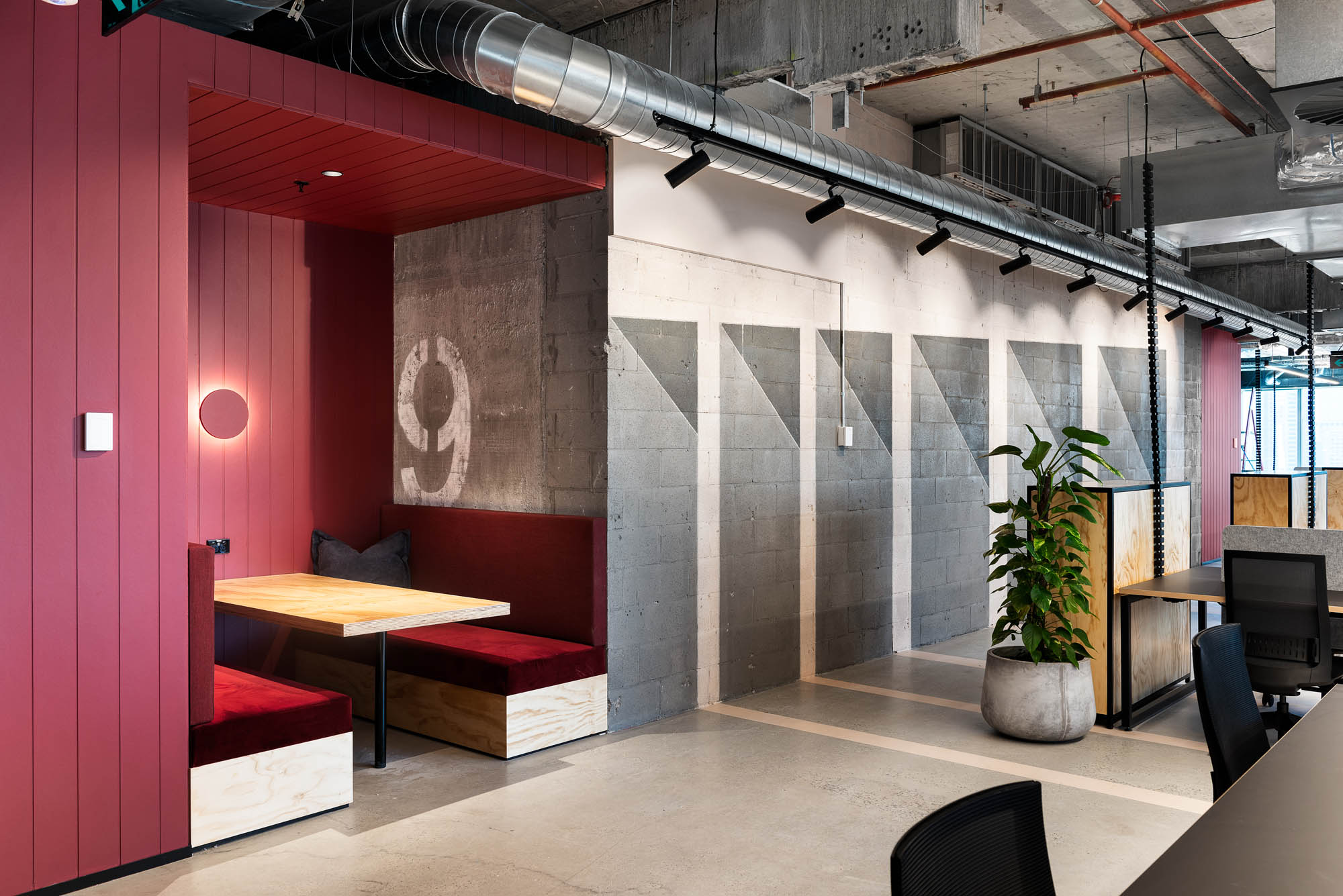 space and co office interior fitout melbourne breakout nook