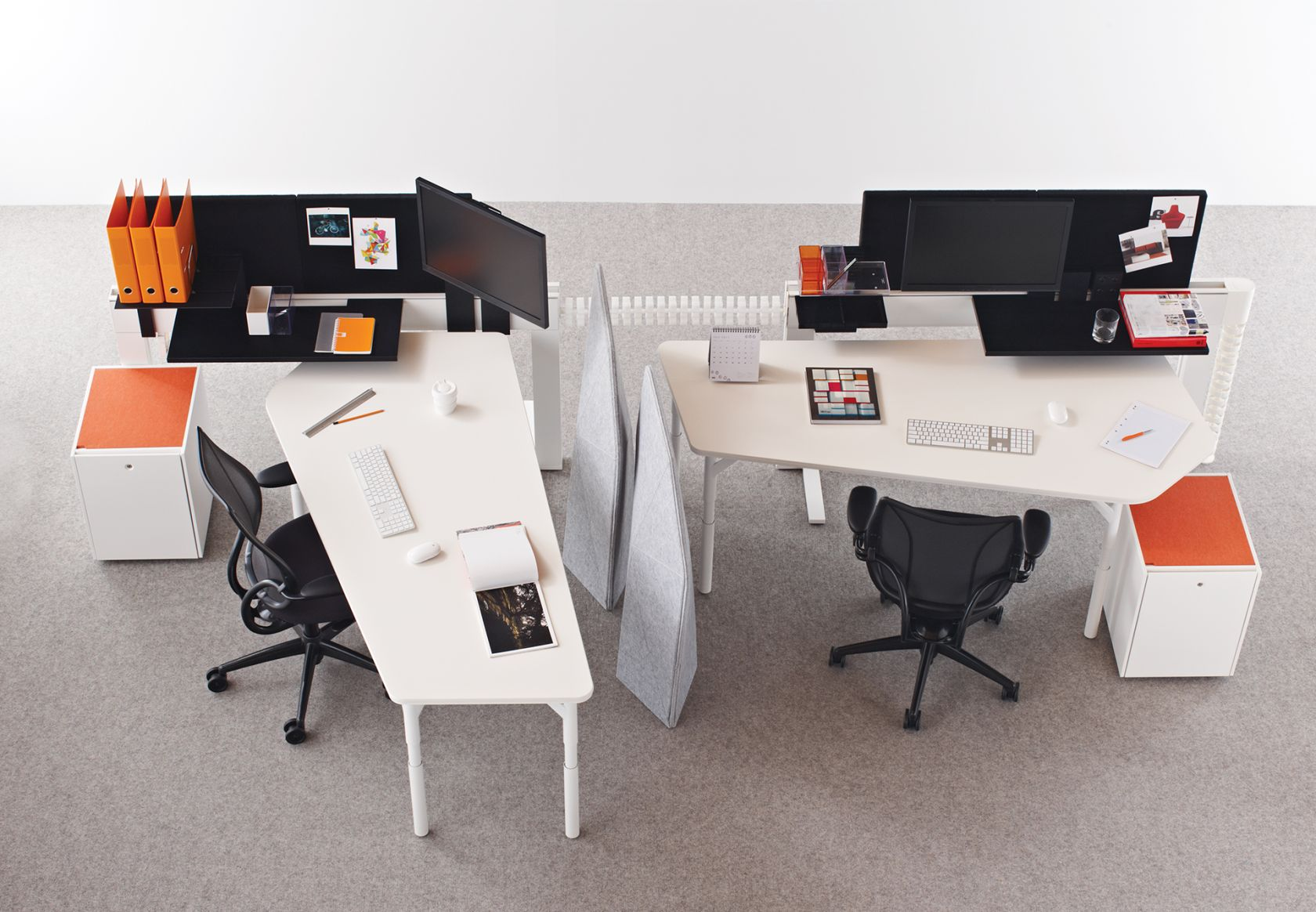 Climate Table, Marker, Soft Boundary, Diffrient World Task Chair and Storage Box