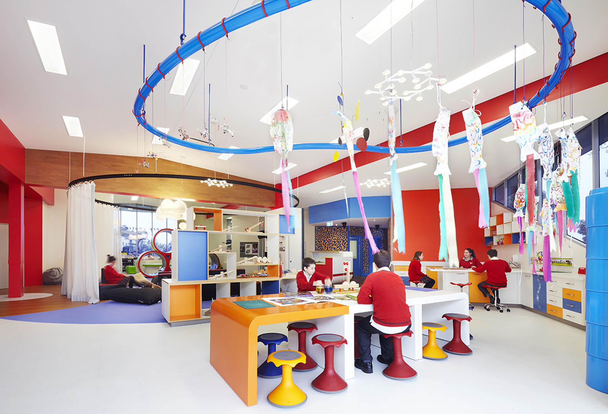 concord-school-discovery-centre-education-refurb-vic-student-work-area-colourful-artwork