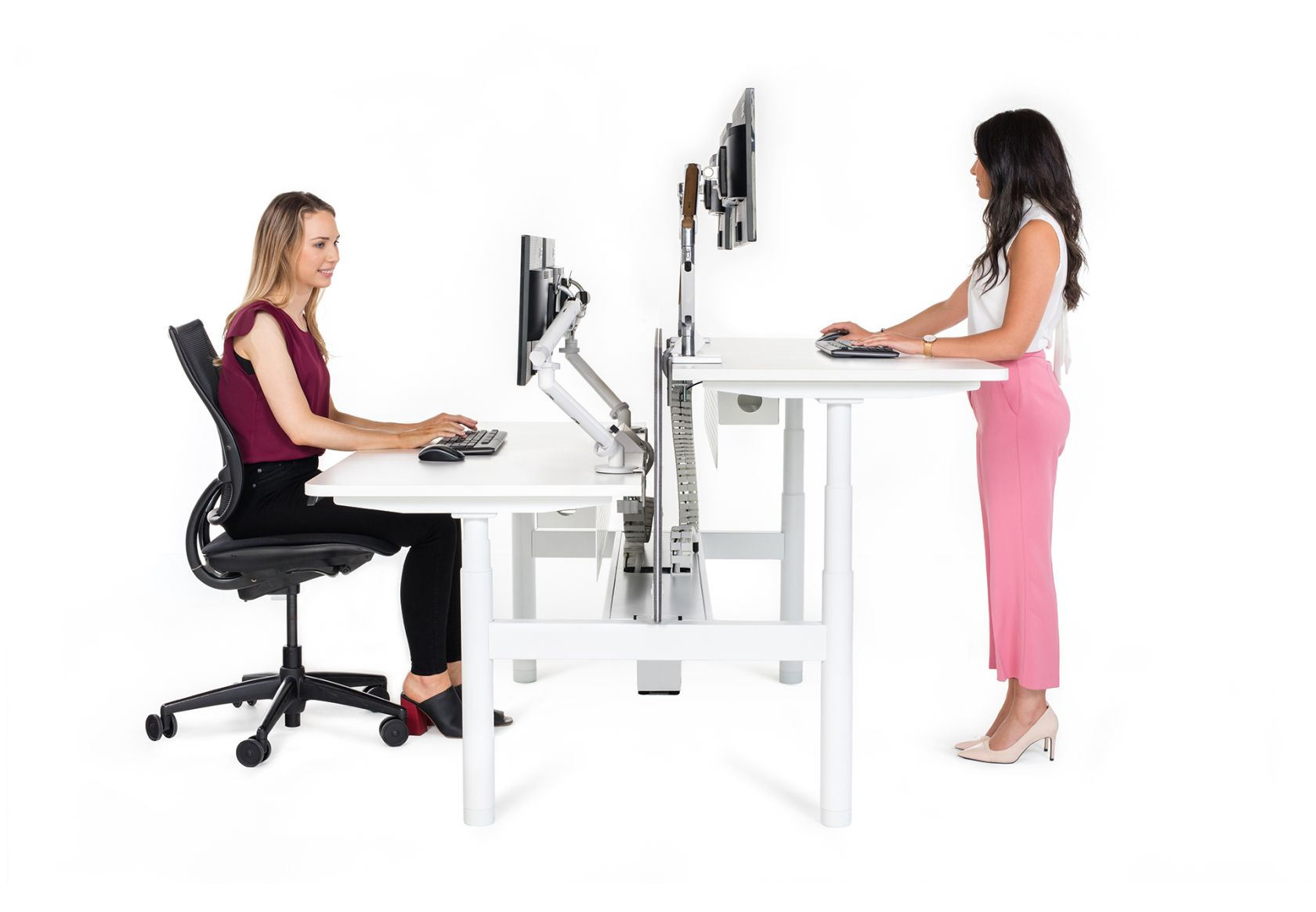 Neo Workstation and Liberty Mesh Chair
