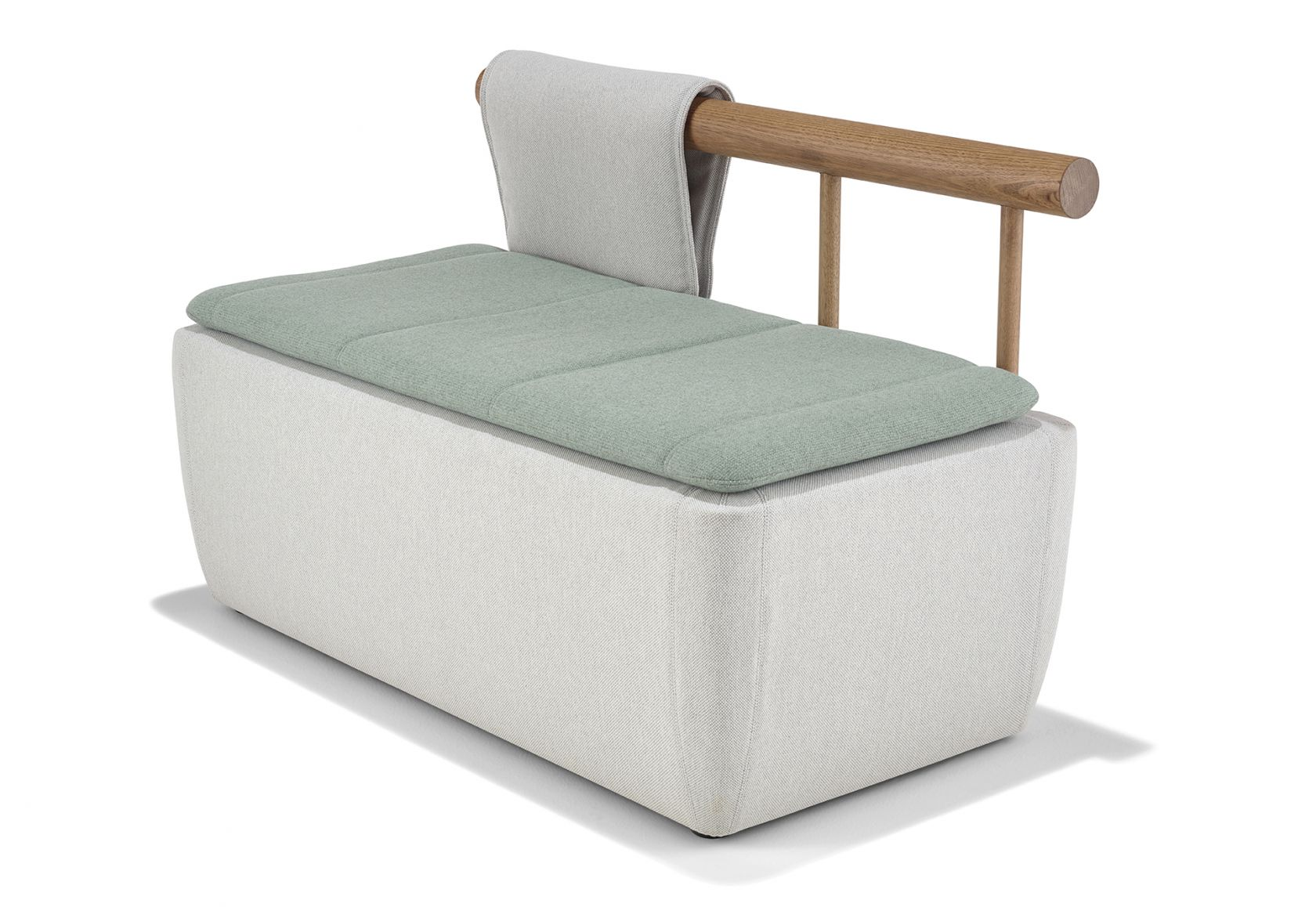 Toku 2 Seat Bench with Single Backrest Blanket