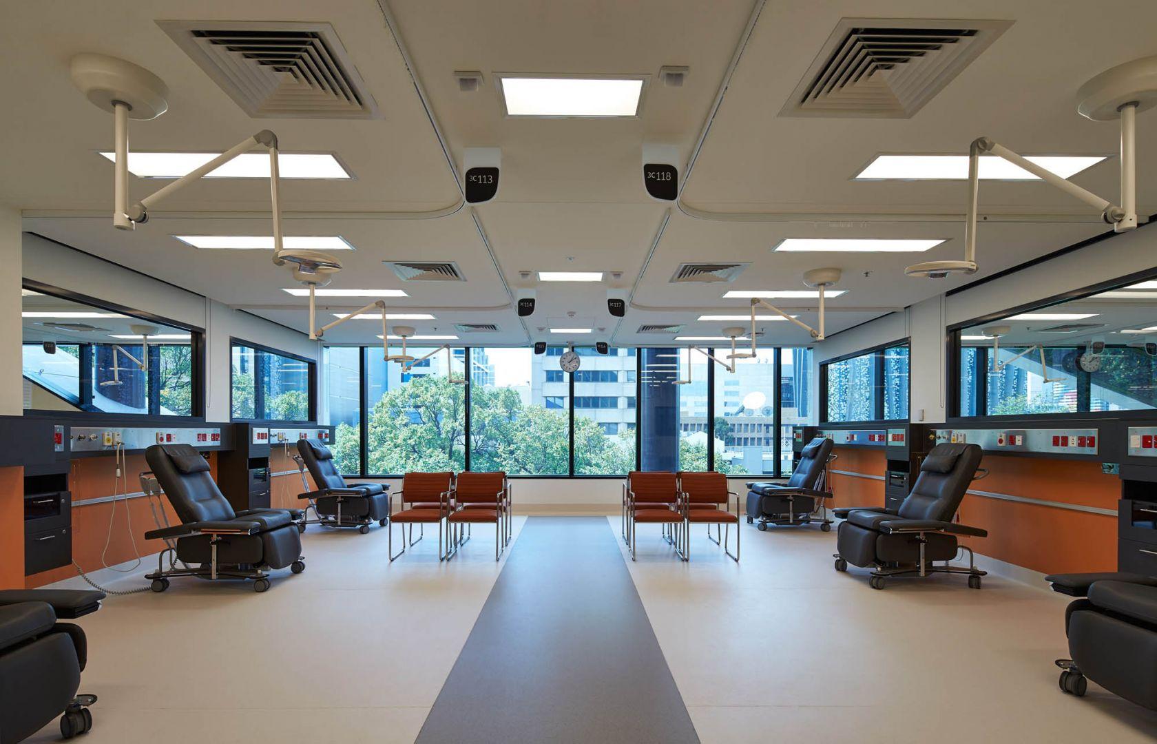 Victorian comprehensive cancer centre melbourne patient care room