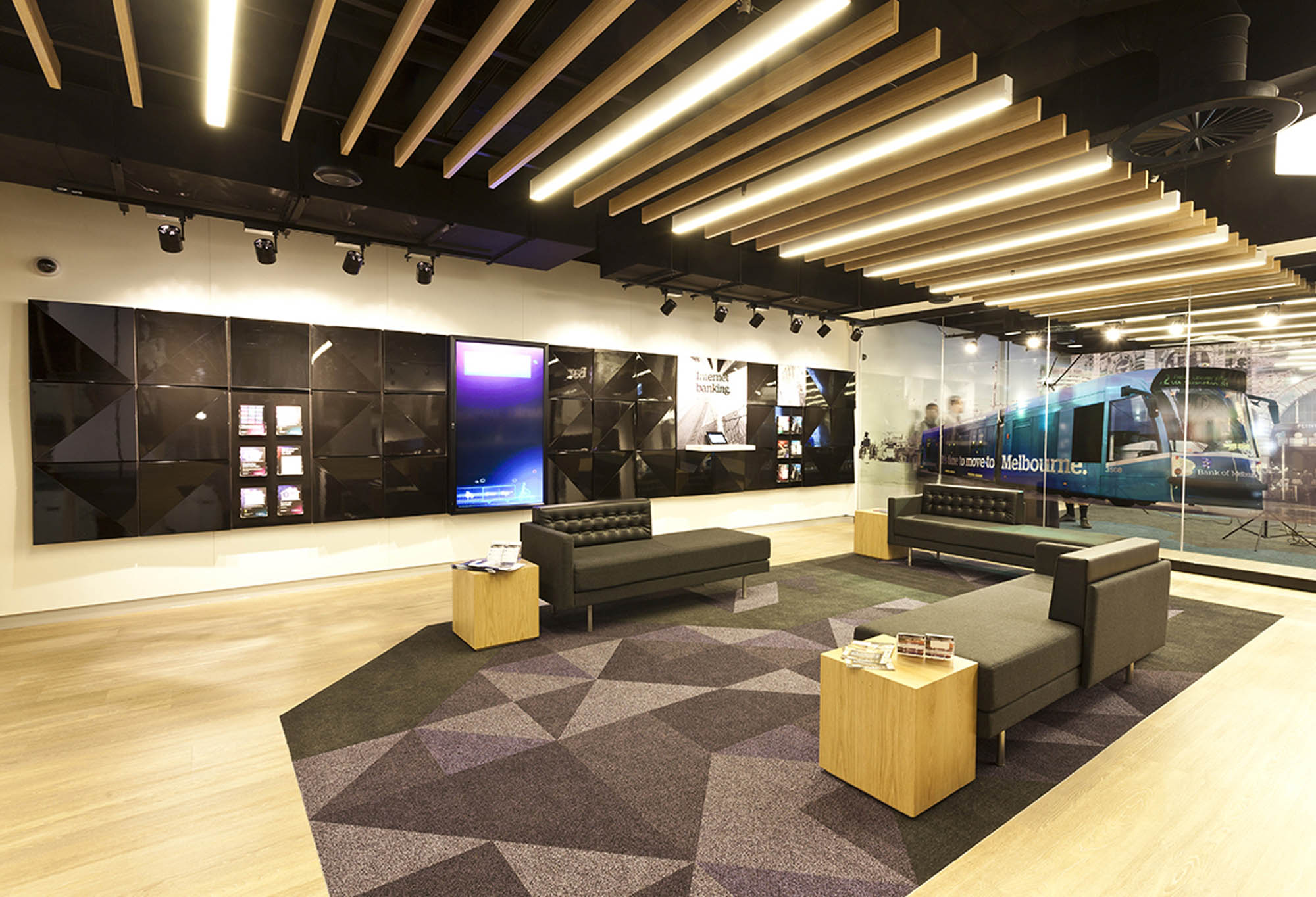 bank of melbourne investore melbourne fitout seating