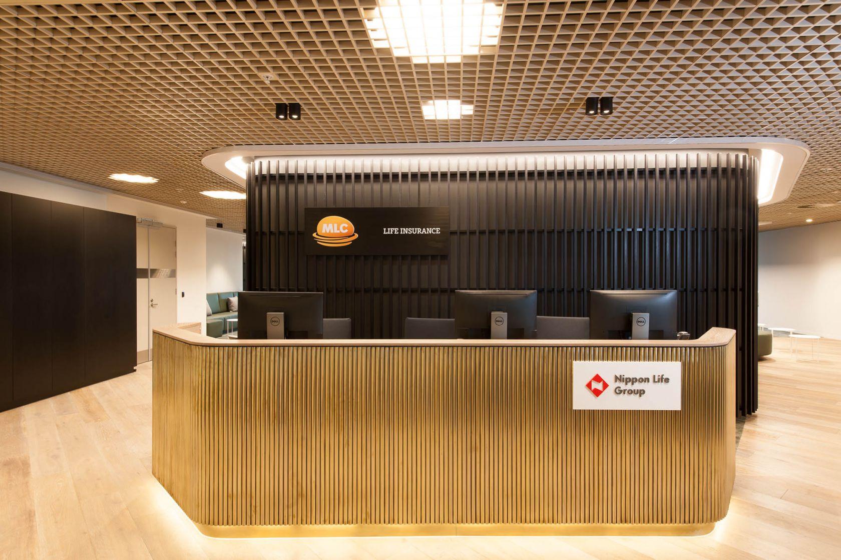 mlc office fitout reception