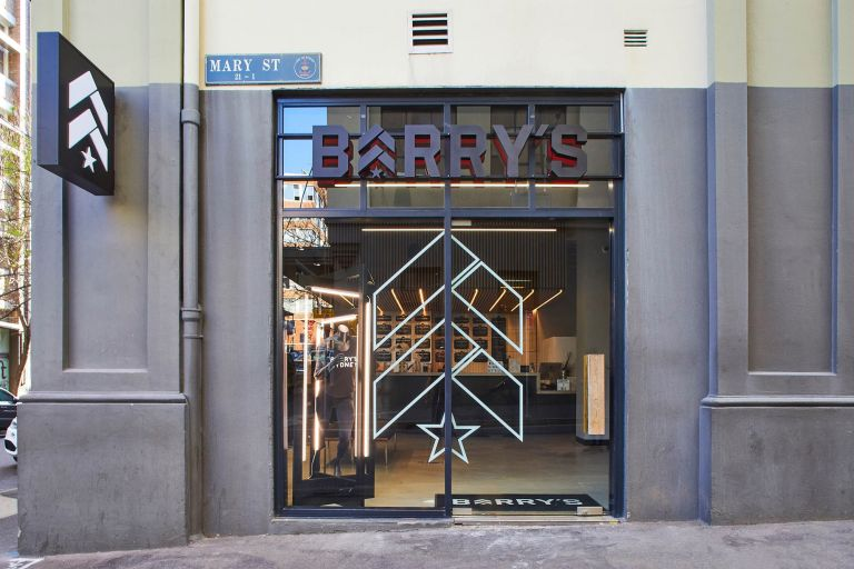 barrys bootcamp concrete entrance to surry hills building