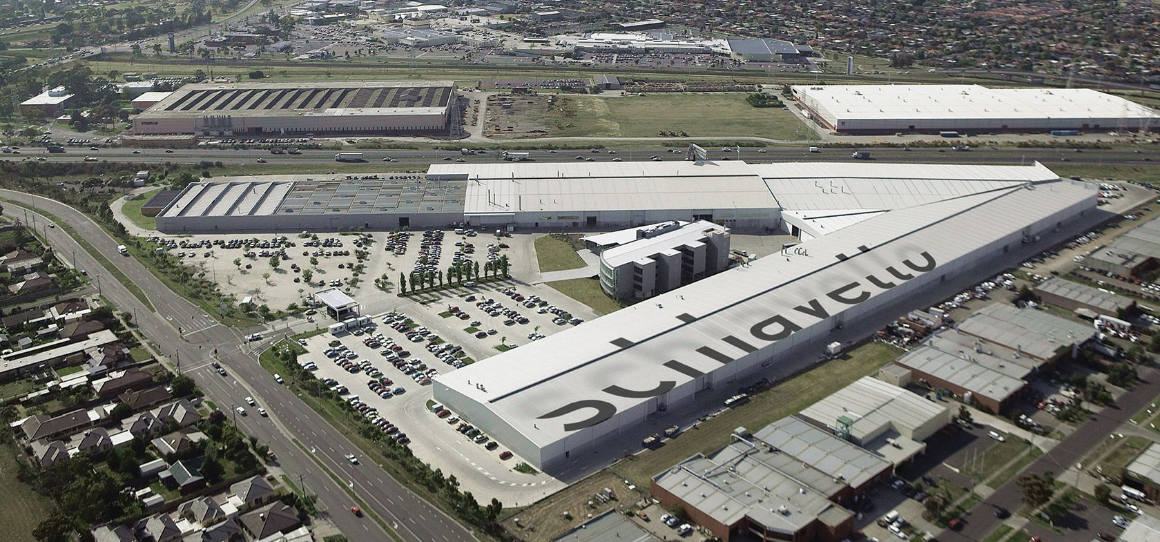 schiavello aerial photo head office and manufacturing facility tullamarine