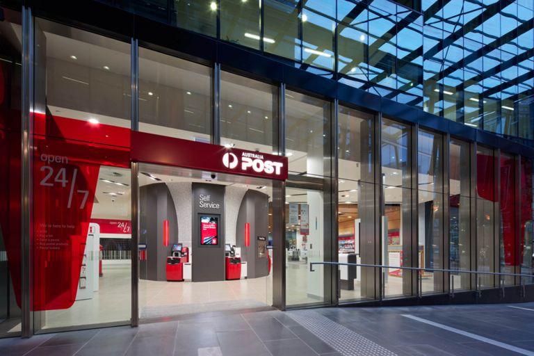 australia post melbourne retail store entrance