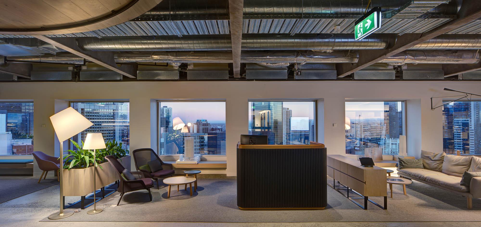 architectus melbourne office fitout reception