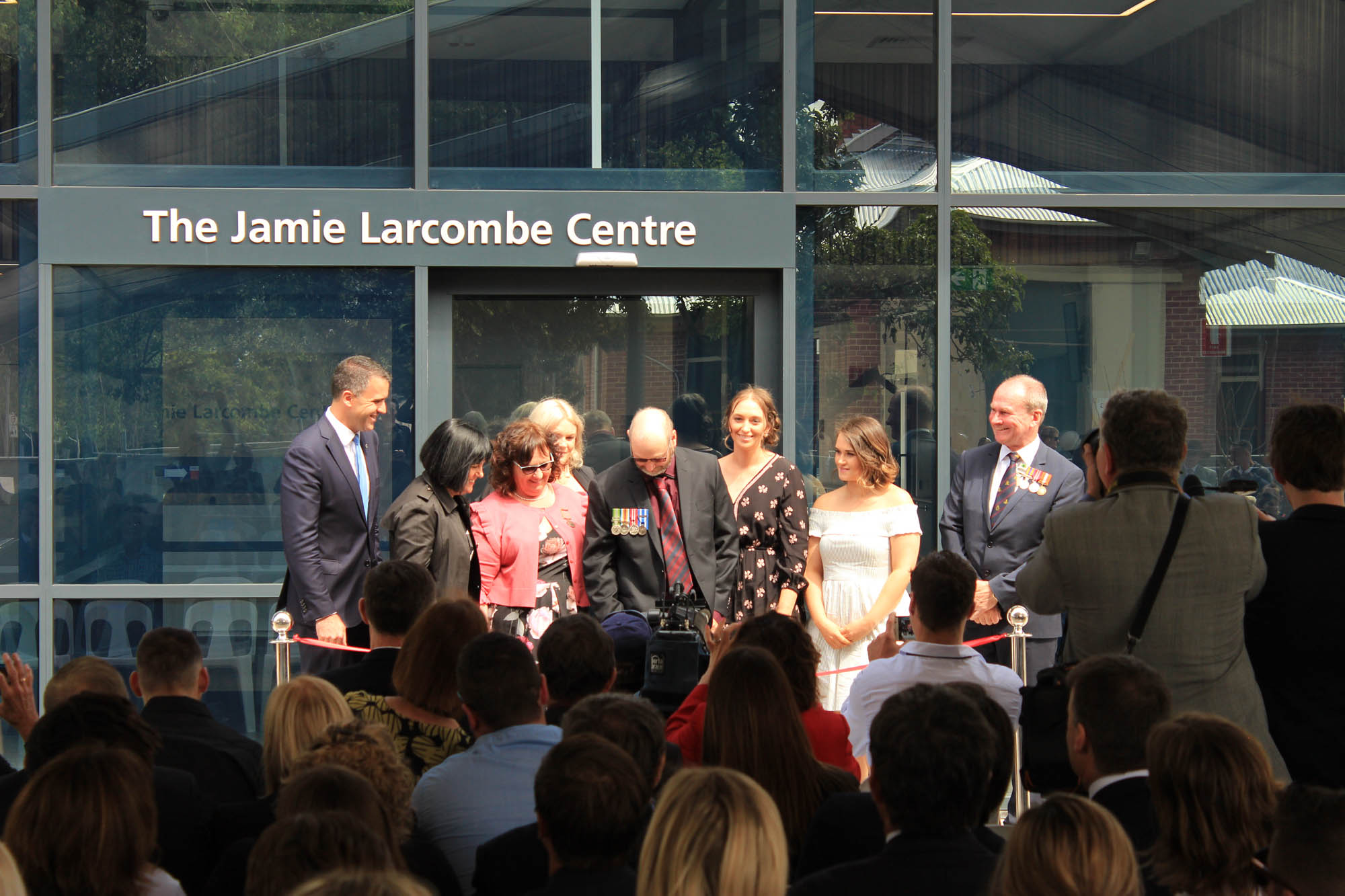 Jamie Larcombe Centre Adelaide Mental Health Facility Opening Ceremony with veterans