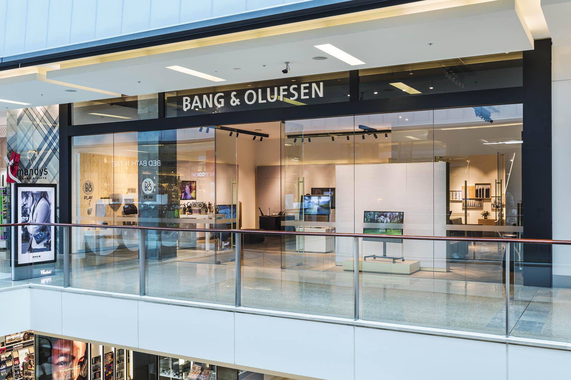 bang and olufsen retail sydney bondi showroom exterior signage shoppig centre
