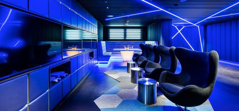 Studios at The Star Sydney Cyberpunk Theme Hotel Room Blue Neon Lights