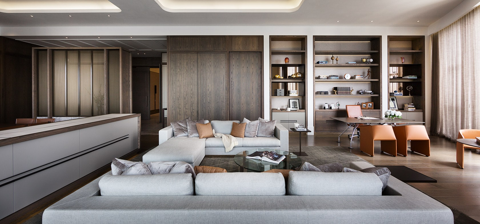 Prima Tower Penthouse Level 66 Living Room High End Residential Joinery and Furniture