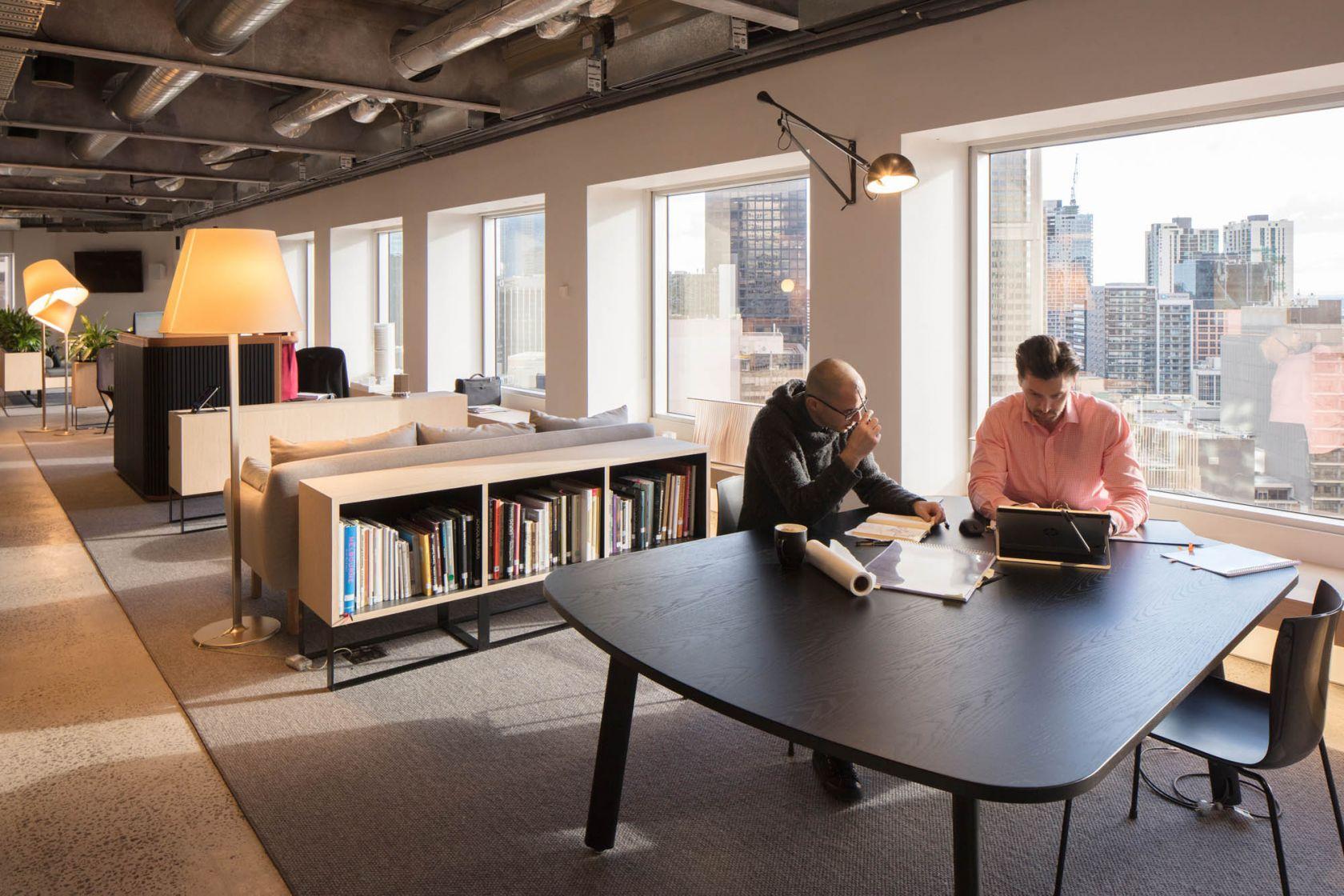 architectus melbourne office fitout collaboration area