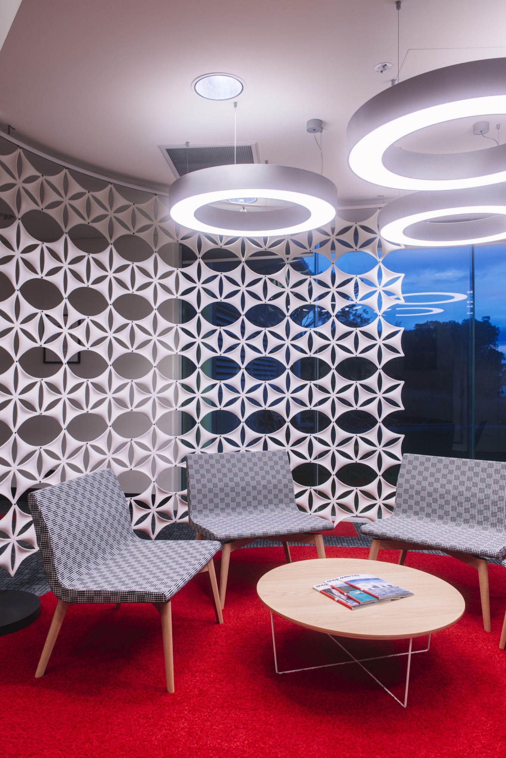 qantas hobart office fitout waiting area