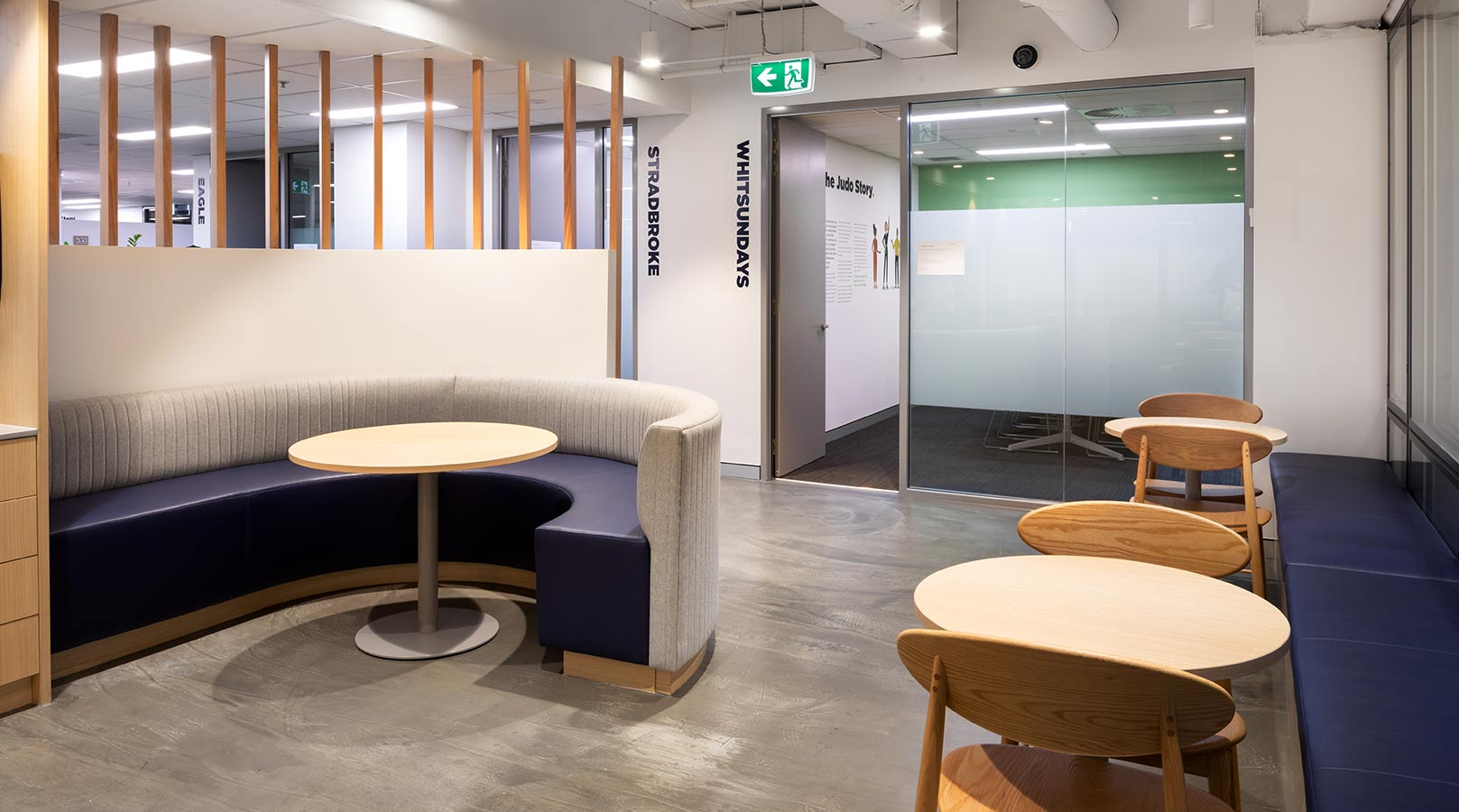 schiavello construction brisbane judo bank office fitout lunch room