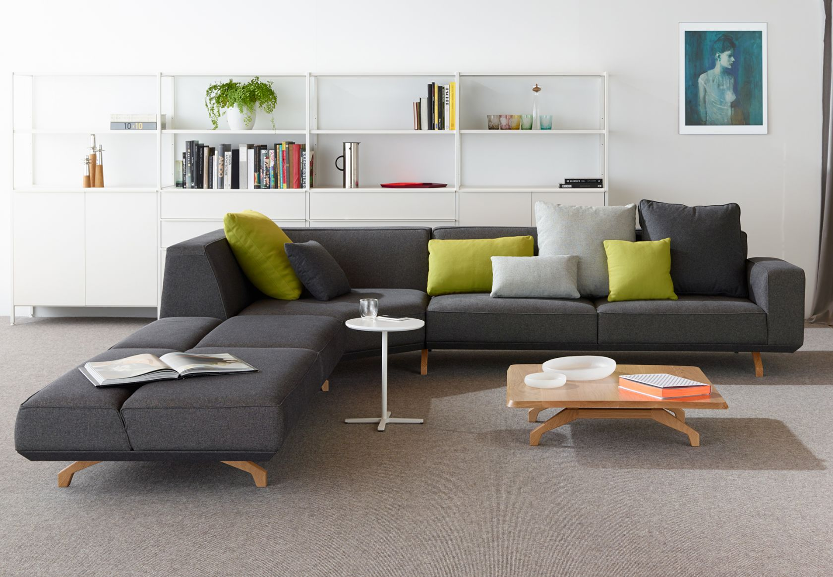 Scatter Platter Cushions, Bomba Sofa, Bomba Table, Kase Storage and Krossi Table