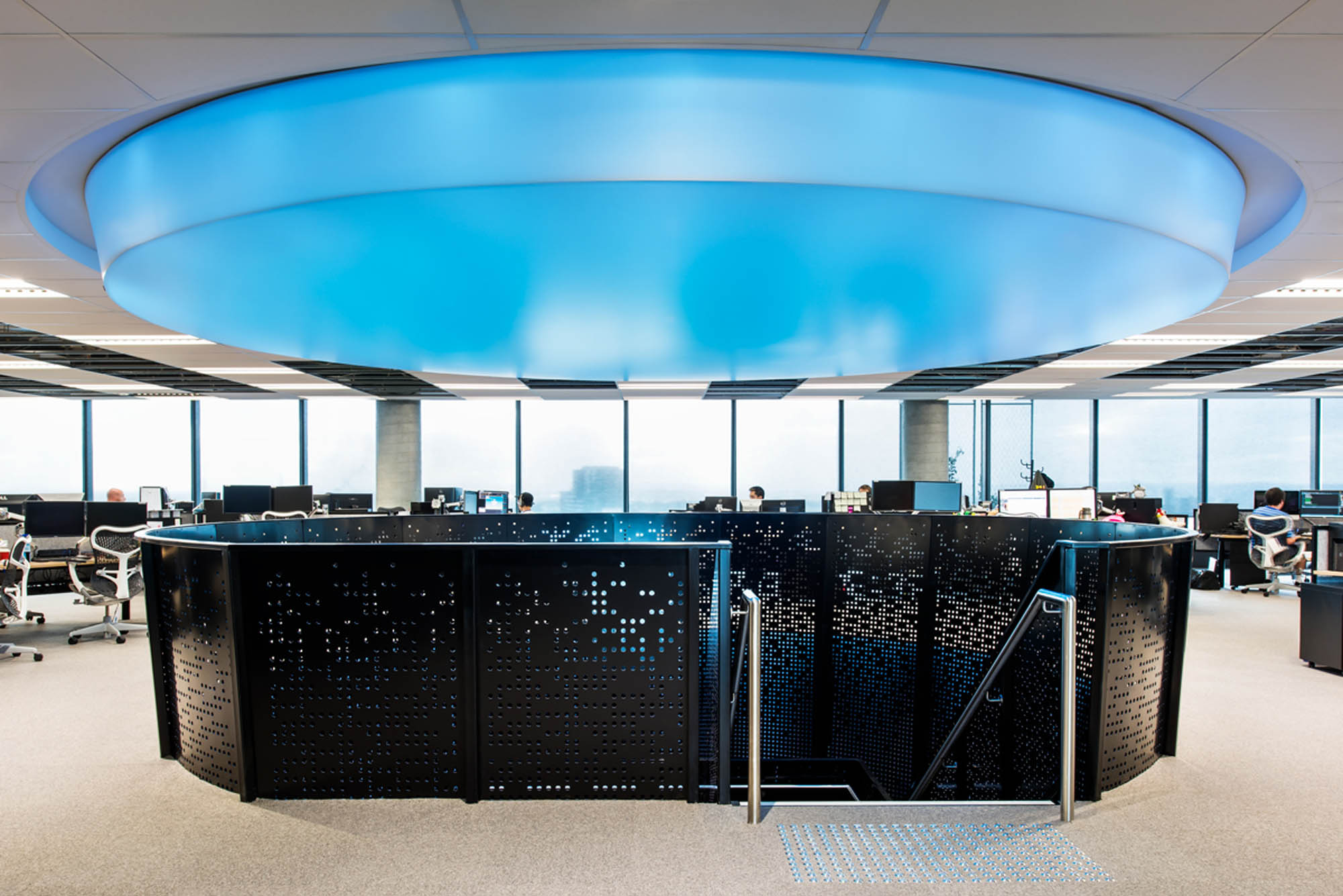 bourke st melbourne office fitout blue lighting