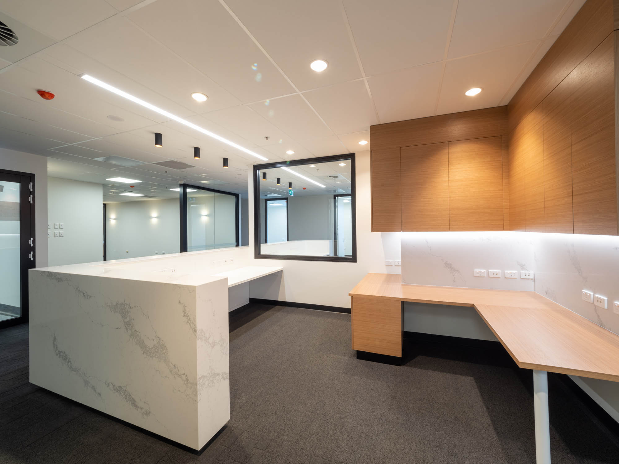 calvary adelaide hospital healthcare aged care fitout construction medical reception desk admission
