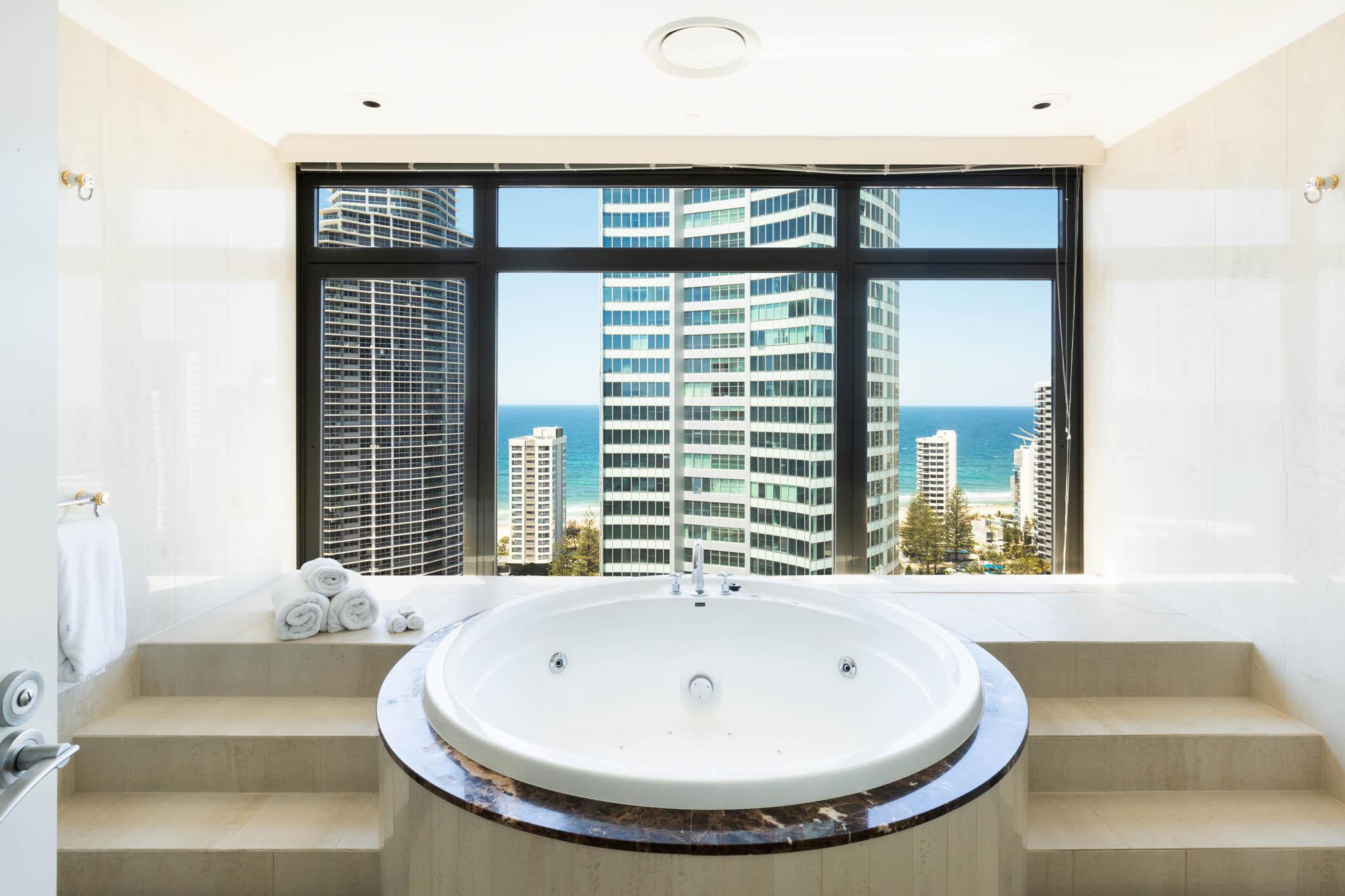 voco hotel gold coast fitout refurbishment construction executive suite spa bathroom retreat