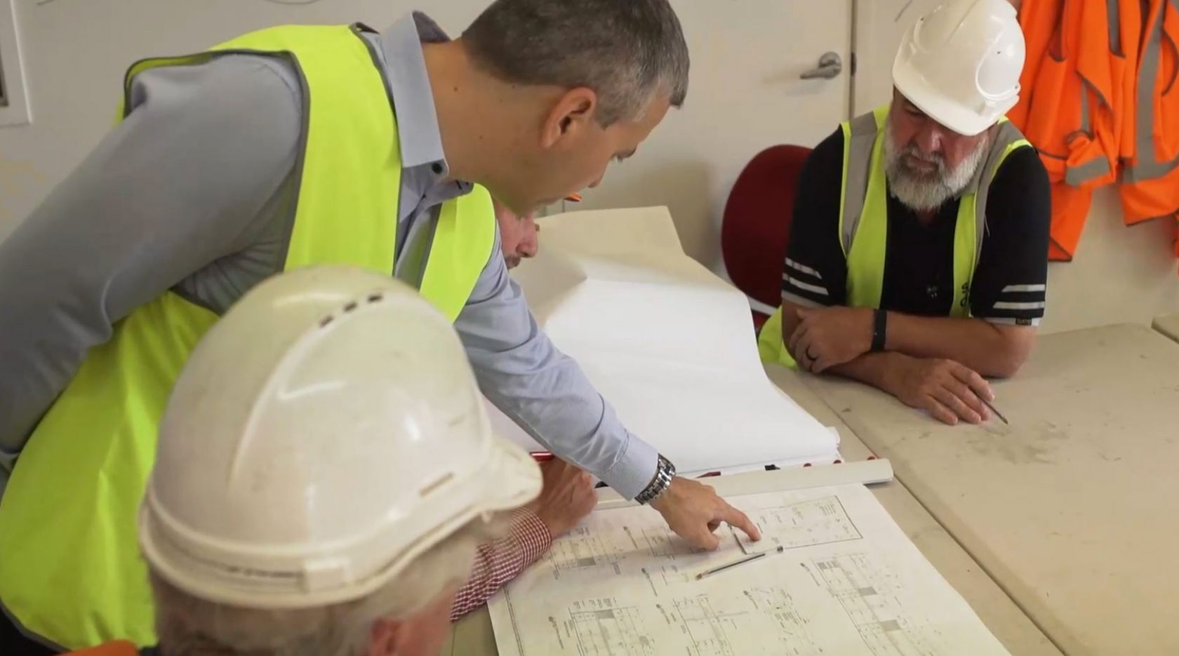 schiavello construction brisbane hexagon mining video snippet drawing review