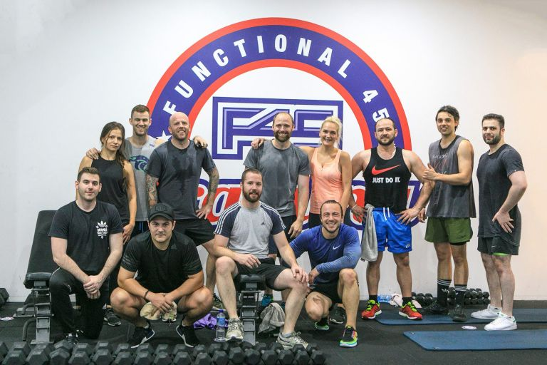 Sydney Schiavello Construction Team Training at F45 in Surry Hills
