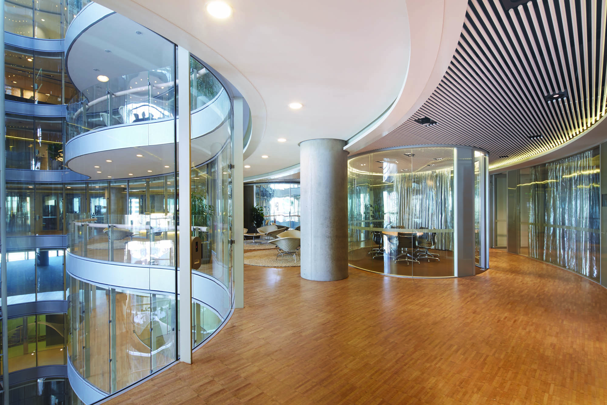 commonwealth parliament office sydney construction fitout atrium timber glass