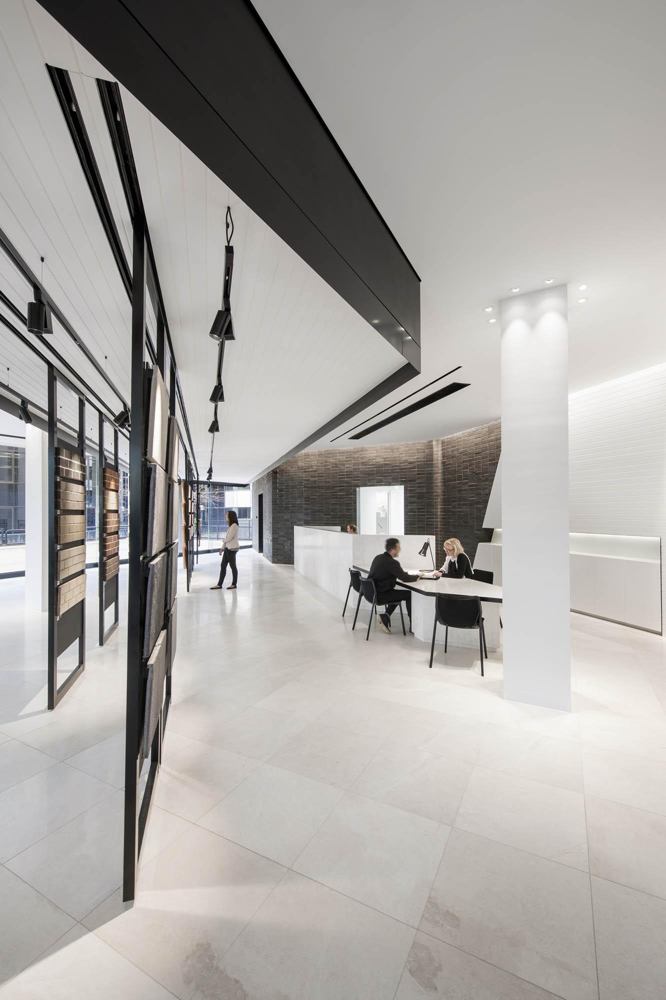 brickwork design austral brick studio adelaide fitout construction sliding panels display
