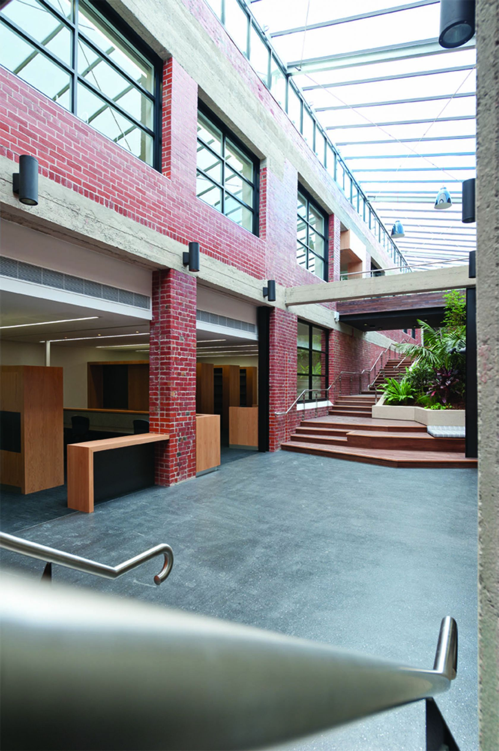 australian red cross melbourne construction glass ceiling