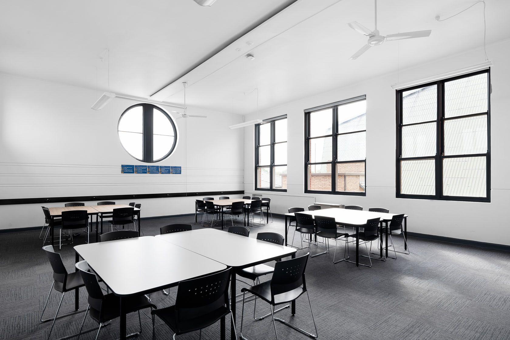 de la salle college classroom