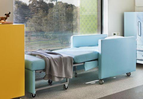Sleeper Chair blue bed