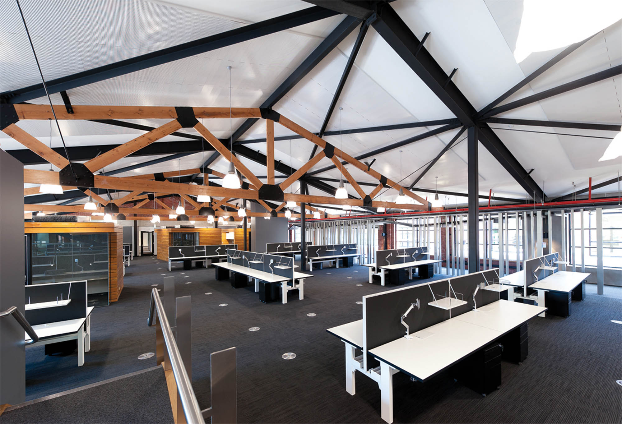australian red cross melbourne construction open plan office