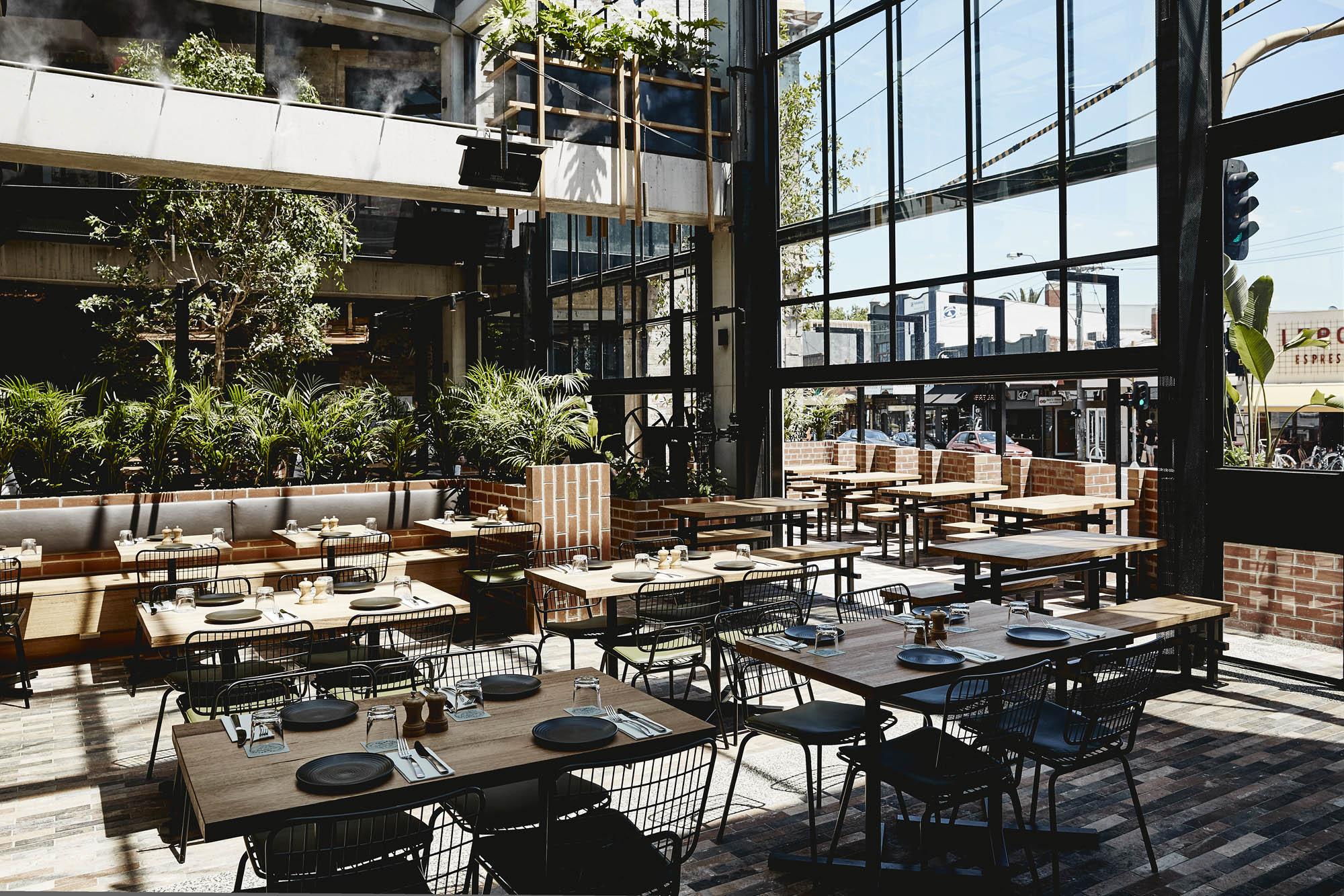 village belle hotel hospitality construction vic st kilda barkly st beer garden open area drinks summer melbourne